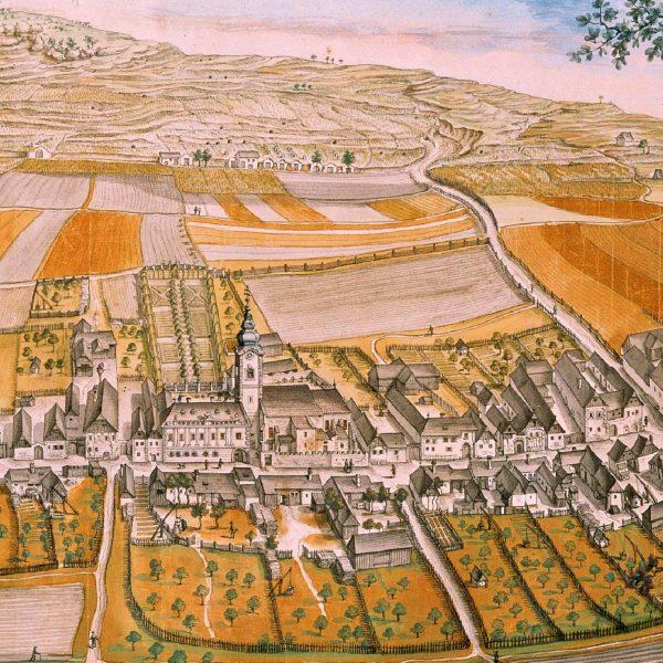 Den frühesten bekannten Bildbeleg für die Existenz von Kellergassen liefert eine Darstellung der Melker Pfarre Rohrendorf von Franz Meyer aus dem Jahr 1767. Das Gemälde zeigt einige Keller in der Oberen Wienerstraße in Rohrendorf bei Krems.