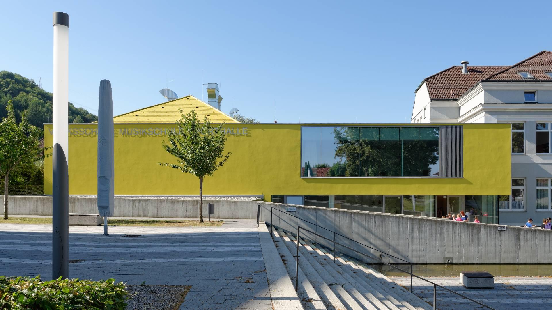 ©Walter Ebenhofer / Schulgebäude Ansicht Zubau