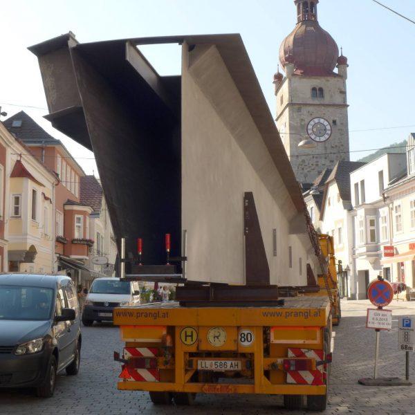 ©Stadt Waidhofen a. d. Ybbs / Transport Stegträger
