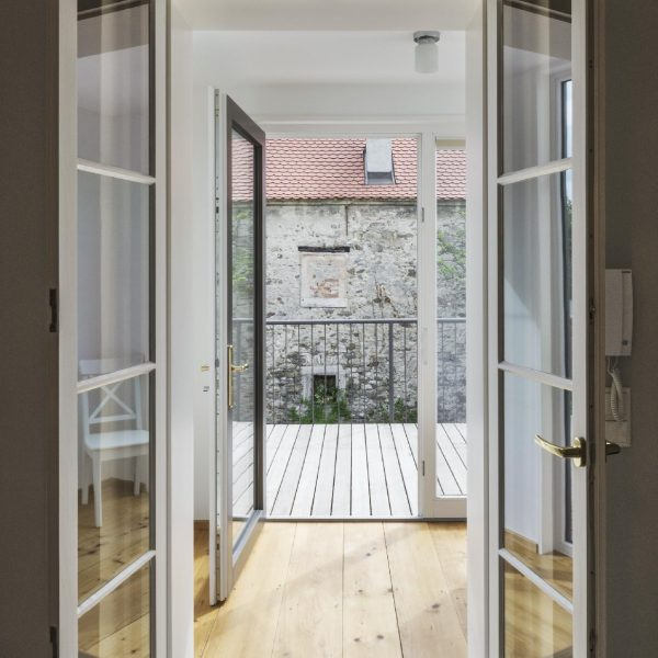 ©Pez Hejduk / Blick durch den neuen Vorbau in den Innenhof