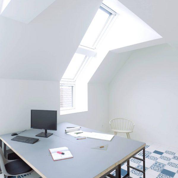 ©Jörg Seiler / Büroraum in der 1. Dachgeschoßebene