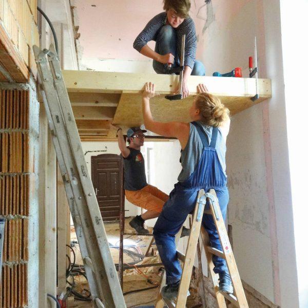 ©design.build studio / Innenansicht während der Bauphase