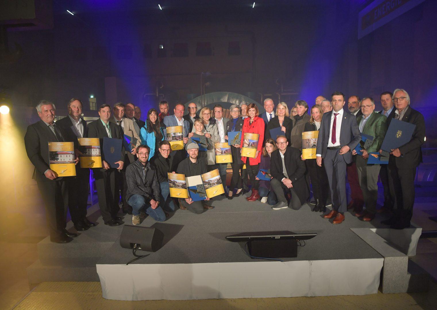 Gruppenfoto aller GewinnerInnen der Goldenen Kelle 2018