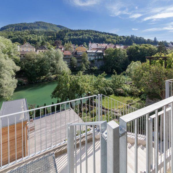 ©Romana Fürnkranz / Terrasse mit Blick auf die Ybbs