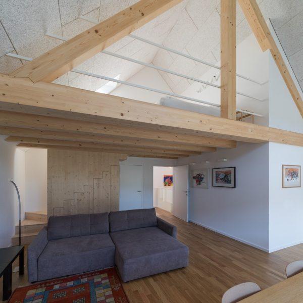 ©Romana Fürnkranz / Innenansicht mit Dachkonstruktion