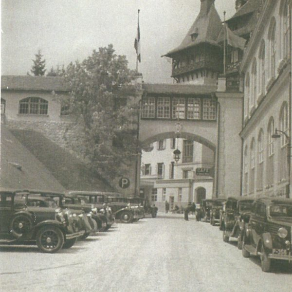 Fotos Semmering einst - Autoparkplatz südseitig