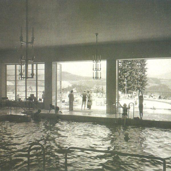 Fotos Semmering einst - Hallenbad von innen um 1936