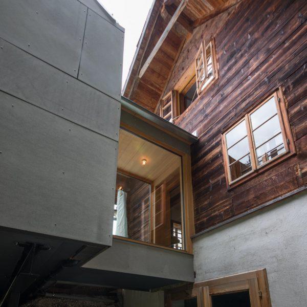 ©Romana Fürnkranz / Außenansicht Verbindung Altbau mit Neubau