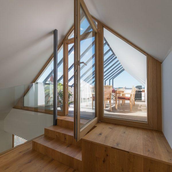 ©Romana Fürnkranz / Innenansicht Blickrichtung Dachterrasse