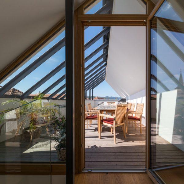 ©Romana Fürnkranz / Blick auf die Dachterrasse